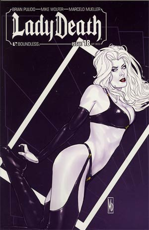 Lady Death Vol 3 #18 Incentive Art Deco Variant Cover