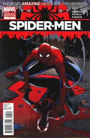 Spider-Men #1 Incentive Sara Pichelli Variant Cover