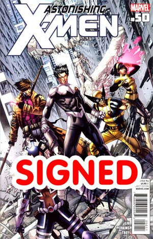 Astonishing X-Men Vol 3 #50 Regular Dustin Weaver Cover Signed By Marjorie Liu