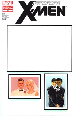 Astonishing X-Men Vol 3 #51 Variant Create-Your-Own-Wedding Cover