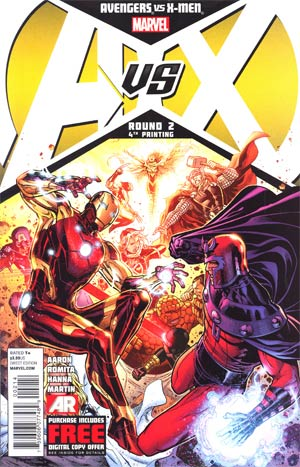 Avengers vs X-Men #2 4th Ptg Jim Cheung Variant Cover