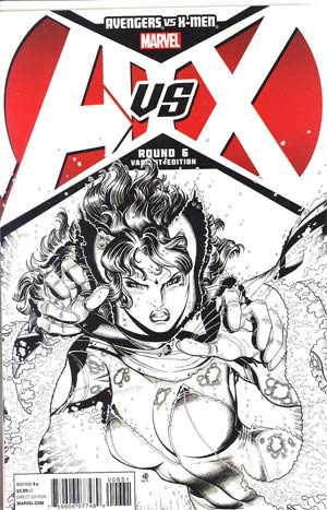 Avengers vs X-Men #6 Incentive Nick Bradshaw Sketch Cover