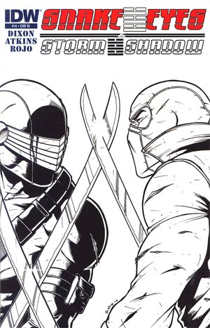 Snake Eyes & Storm Shadow #14 Incentive Andrea Di Vito Sketch Cover