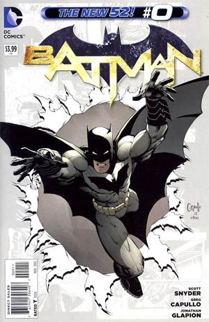 Batman Vol 2 #0 Regular Greg Capullo Cover