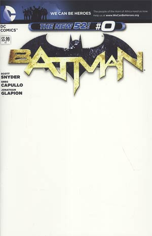 Batman Vol 2 #0 Variant We Can Be Heroes Blank Cover