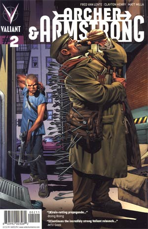 Archer & Armstrong Vol 2 #2 Regular Arturo Lozzi Cover