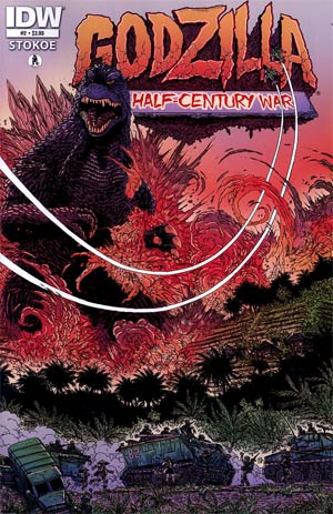 Godzilla Half-Century War #2 1st Ptg Regular James Stokoe Cover