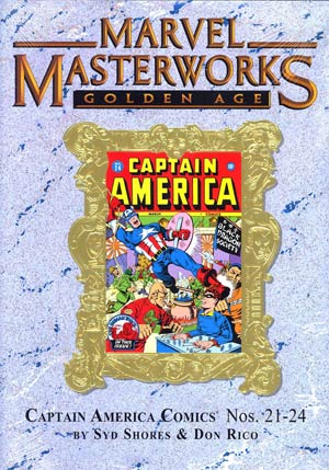 Marvel Masterworks Golden Age Captain America Vol 6 HC Variant Dust Jacket