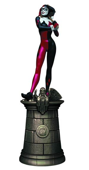 DC Superhero Chess Figure Collector Magazine #17 Harley Quinn Black Queen
