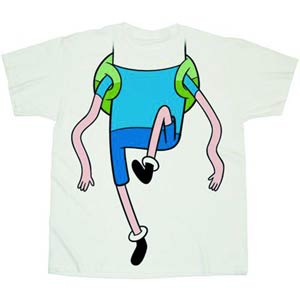 Adventure Time Wiggly Legs Costume Previews Exclusive White T-Shirt Large