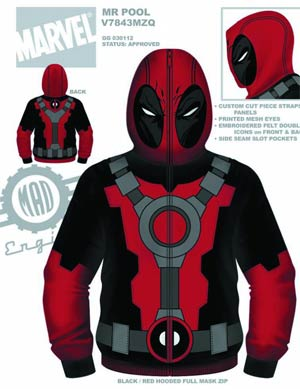 Deadpool Mr Pool Hooded Fleece Large