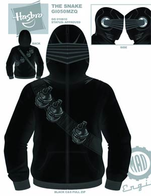 GI Joe Snake Eyes Costume Hoodie X-Large