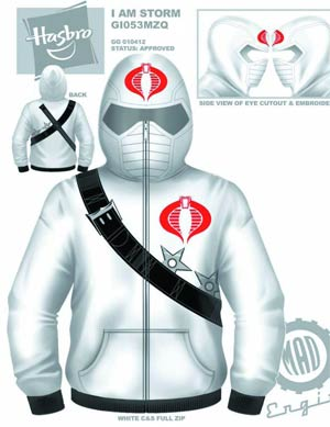 GI Joe Storm Shadow Costume Hoodie X-Large