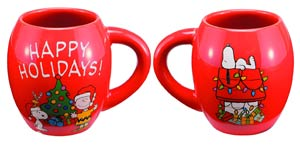 Holiday Classics 18-Ounce Ceramic Oval Mug - Peanuts