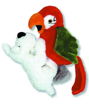 Tintin Plush - Snowy And Parrot