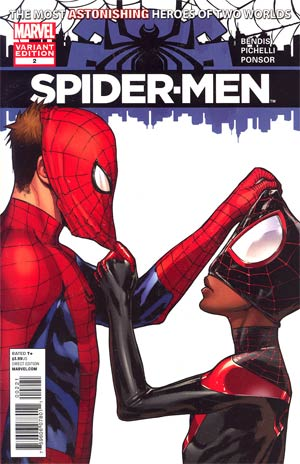 Spider-Men #2 Incentive Sara Pichelli Variant Cover