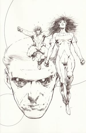Hypernaturals #1 Incentive Trevor Hairsine Sketch Cover