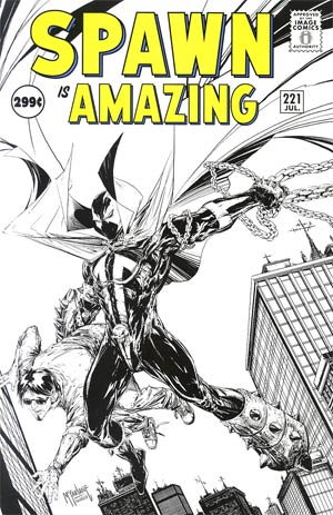 Spawn #221 Cover B Incentive Todd McFarlane Sketch Cover