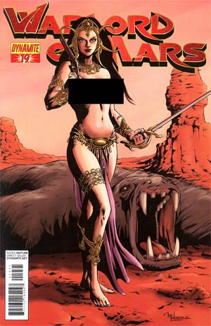 Warlord Of Mars #19 Incentive Jose Malaga Risque Variant Cover