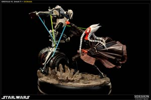 Star Wars Hunt For The Jedi Shaak Ti vs General Grievous Polystone Diorama Statue