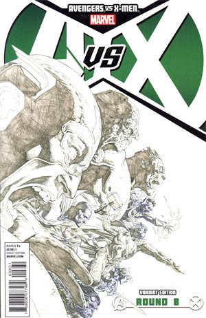 Avengers vs X-Men #8 Incentive Jerome Opena Sketch Cover