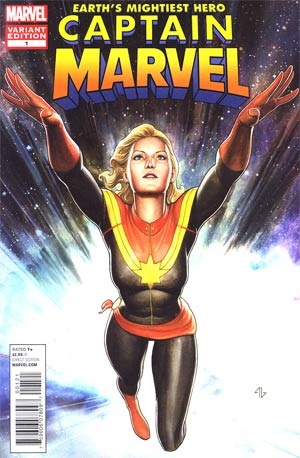 Captain Marvel Vol 6 #1 Incentive Adi Granov Variant Cover