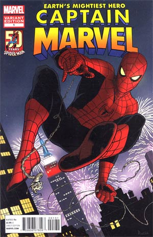 Captain Marvel Vol 6 #1 Variant Amazing Spider-Man 50th Anniversary Cover