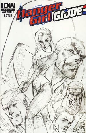 Danger Girl GI Joe #1 Incentive J Scott Campbell Sketch Cover