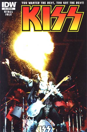KISS Vol 2 #2 Incentive KISS Photo Variant Cover