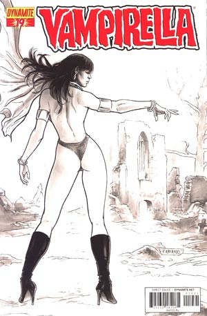 Vampirella Vol 4 #19 Incentive Fabiano Neves Black & White Cover
