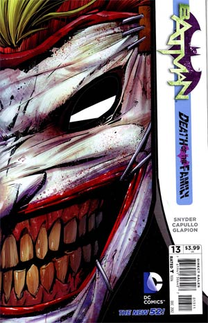 Batman Vol 2 #13 Cvr A 1st Ptg Regular Greg Capullo Cover (Death Of The Family Tie-In)