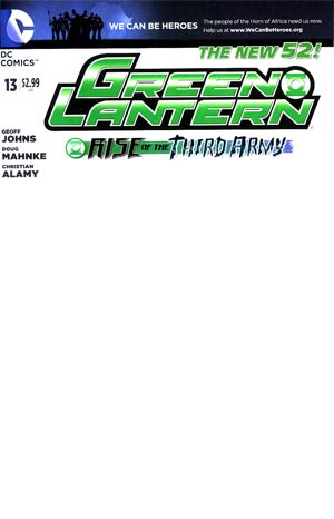 Green Lantern Vol 5 #13 Variant We Can Be Heroes Blank Cover (Rise Of The Third Army Tie-In)