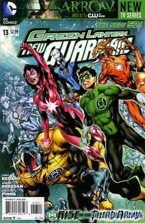 Green Lantern New Guardians #13 Regular Ivan Reis Cover (Rise Of The Third Army Tie-In)