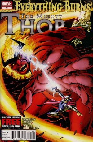 Mighty Thor #21 Regular Alan Davis Cover (Everything Burns Part 6)