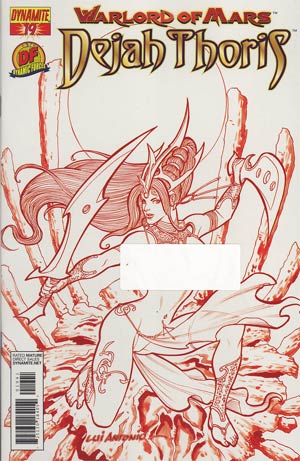 Warlord Of Mars Dejah Thoris #19 DF Exclusive Lui Antonio Martian Red Risque Cover
