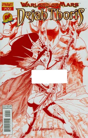 Warlord Of Mars Dejah Thoris #20 DF Exclusive Martian Red Risque Cover