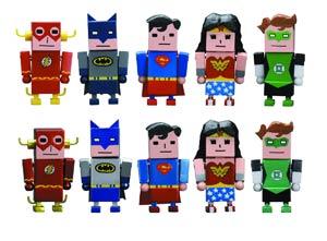 Justice League x Korejanai Trading Mini Figure 10-Piece Display