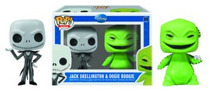 POP Mini Disney 05 Nightmare Before Christmas Jack Skellington And Oogie Boogie Vinyl Figure 2-Pack