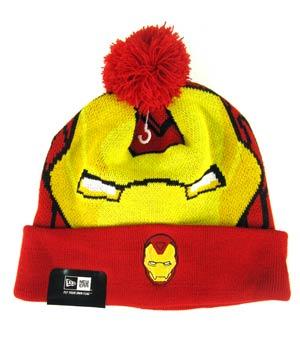 Woven Biggie Knit Cap - Iron Man