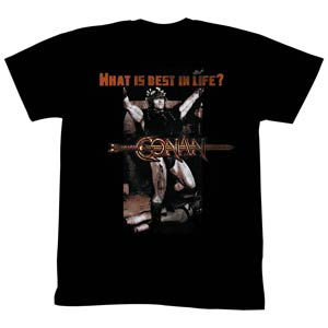 Conan What Is Best In Life Black T-Shirt Large