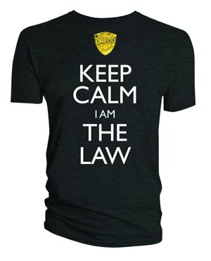 Judge Dredd Keep Calm I Am The Law T-Shirt Large