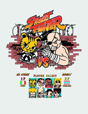 Street Fighter x tokidoki El Tigre T-Shirt Large