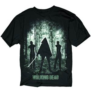 Walking Dead Michonne Walkers T-Shirt Black Large