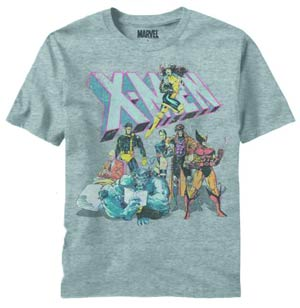 X-Men Intermission Gray Heather T-Shirt Large
