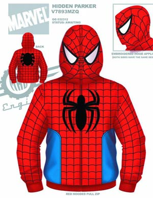 Spider-Man Hidden Parker Costume Hoodie Large