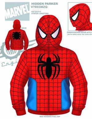 Spider-Man Hidden Parker Costume Hoodie Large