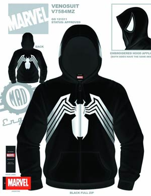 Spider-Man McVenom Hooded Fleece Large