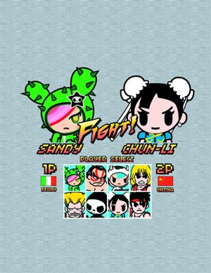 Street Fighter x tokidoki Sandy vs Chun-Li Juniors T-Shirt Large