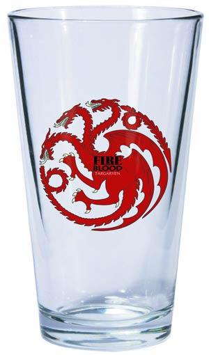 Game Of Thrones Pint Glass - Targaryen Sigil