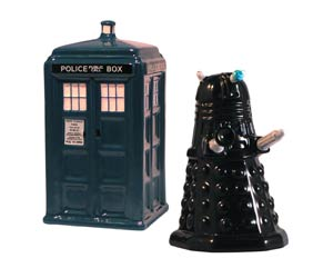Doctor Who TARDIS & Dalek Salt & Pepper Set